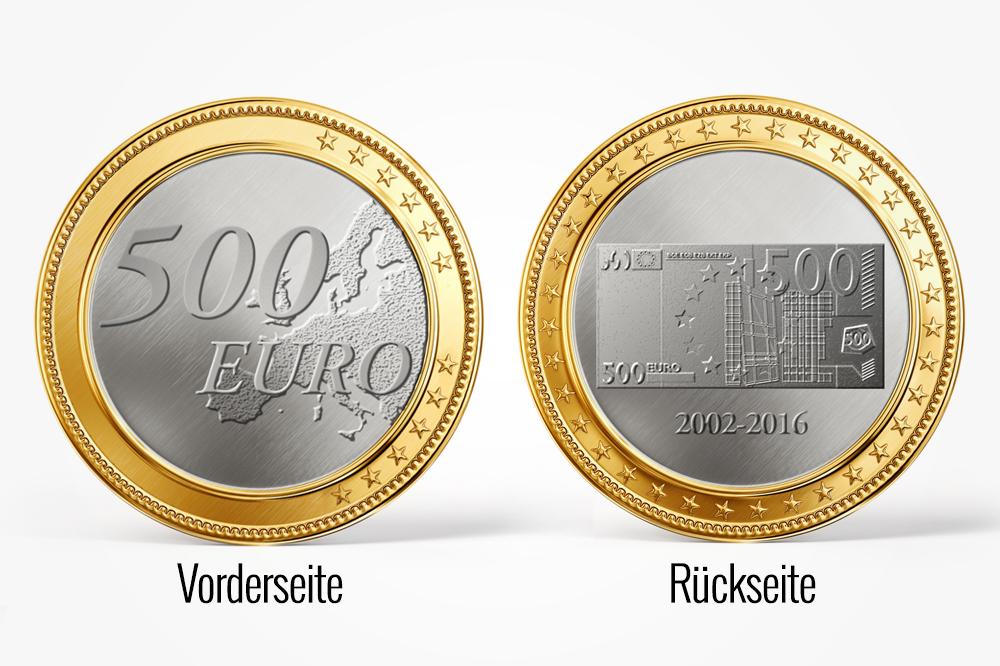 Der Postillon Ezb Plant 500 Euro Schein Gedenkmünze