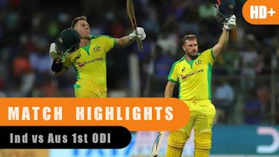 Ind vs Aus 1st Match Highlights