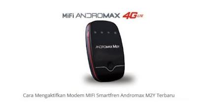 Cara Menggunakan dan Mengaktifkan Modem MiFi Andromax M2Y 4G LTE