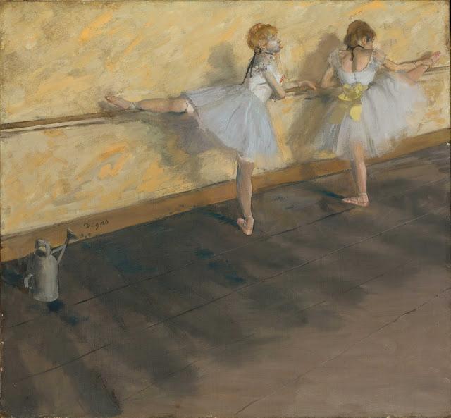 Эдгар Дега - Танцовщицы, тренирующиеся у барьера (1877)
