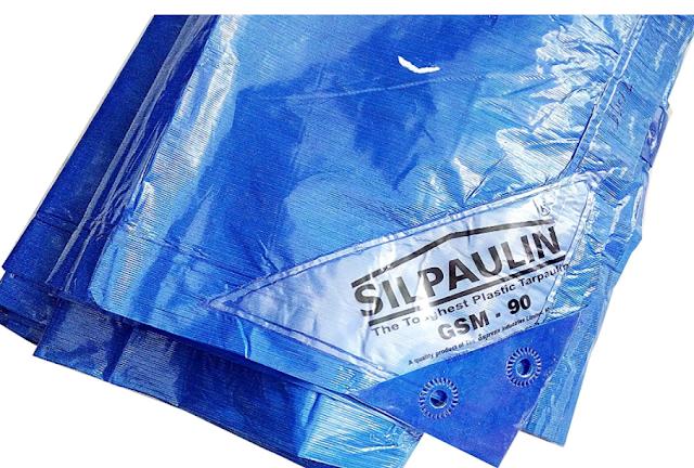Dhinchak Silpaulin Plastic 90 GSM Tarpaulin Tirpal Waterproof Sheet, 30x18 ft (Multicolour, 4 XL)
