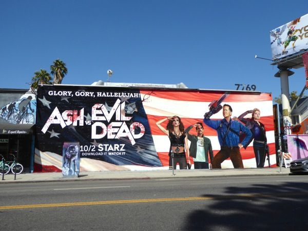 Ash vs Evil Dead season 2 wall mural ad