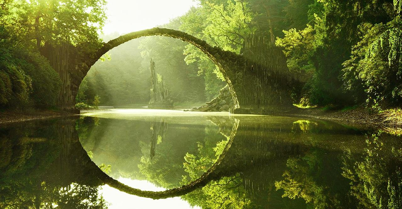 Fotografi Landscape jembatan horor dan mistis pembawa petaka