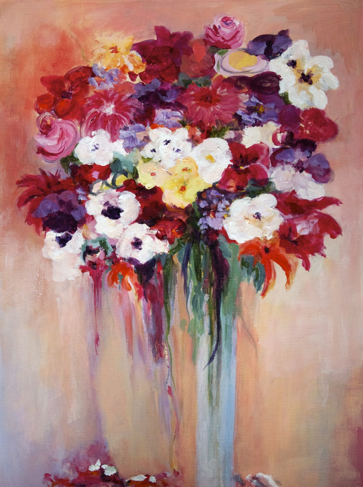Niki Arden Painting In NYC: Sunshine Flowers