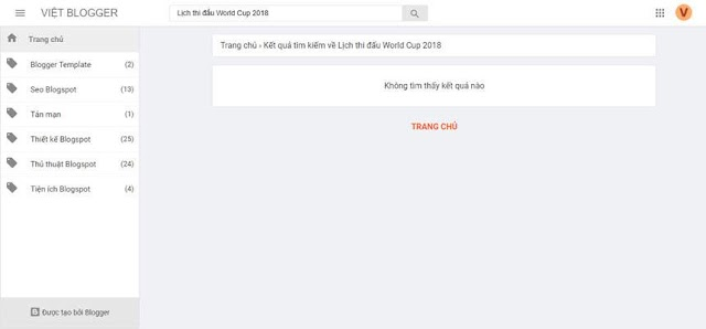 Tùy biến thông báo tại trang báo lỗi và trang kết quả tìm kiếm