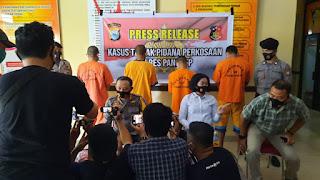 Kapolres Pangkep Pimpin Gelar Konferensi Pers Kasus dugaan Pemerkosaan