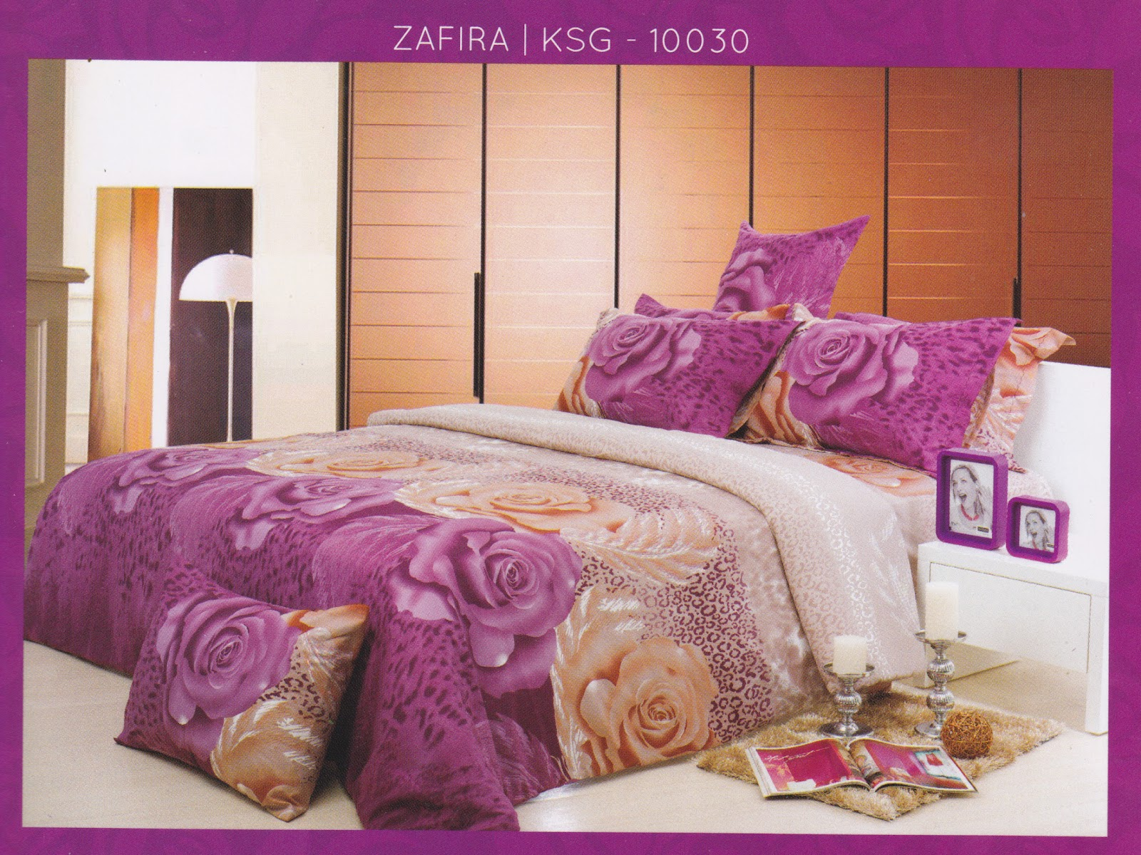 Sprei Kendra Signature ZAFIRA Ko Line Bed Cover Murah Jual