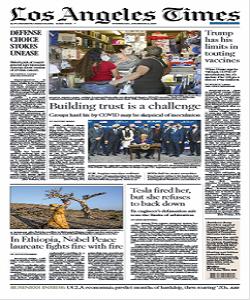 Los Angeles Times Magazine 9 December 2020 | Los Angeles News | Free PDF Download