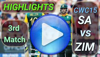 SA vs ZIM 3rd Match