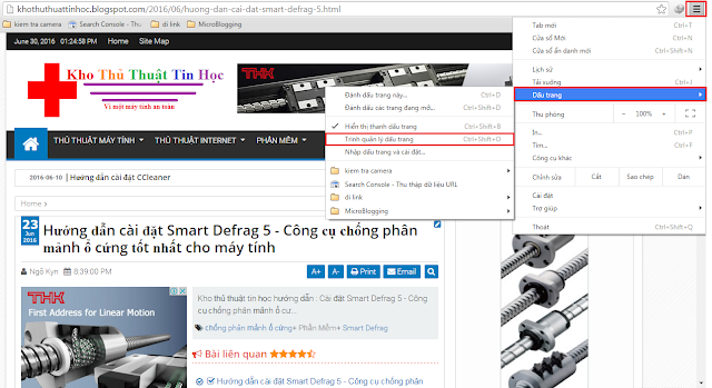 huong dan sao luu va phuc hoi bookmark cho google chrome coc coc