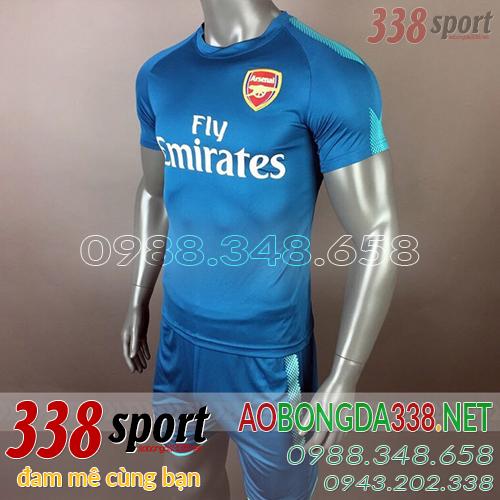 áo arsenal 2017 2018 training màu xanh dương
