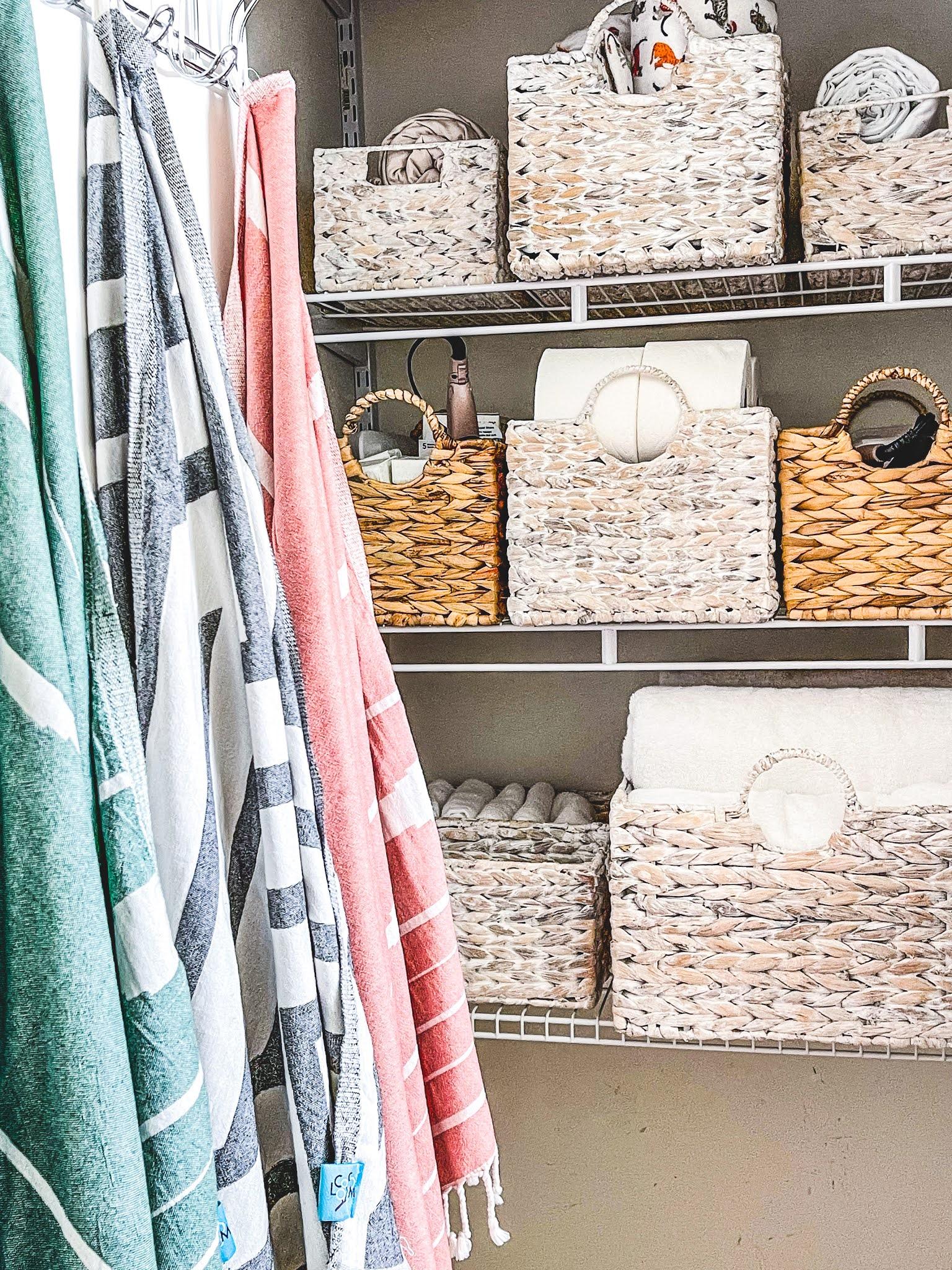 Bathroom Closet Organization Makeover on a Budget
