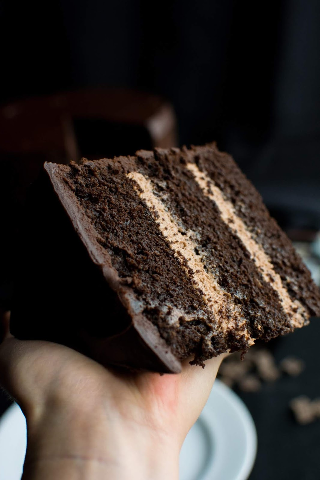 """Miss Trunchbull's Chocolate Cake - The cake from """"Matilda"""" that we all swooned over! Like The Trunchbull, I'm sure you'll agree that this is """"the most scrumptious cake in the entire world."""" One of my favorite movies of all-time is Matilda. I remember when it was about to come out in theaters, and I could NOT wait to go and see it."""