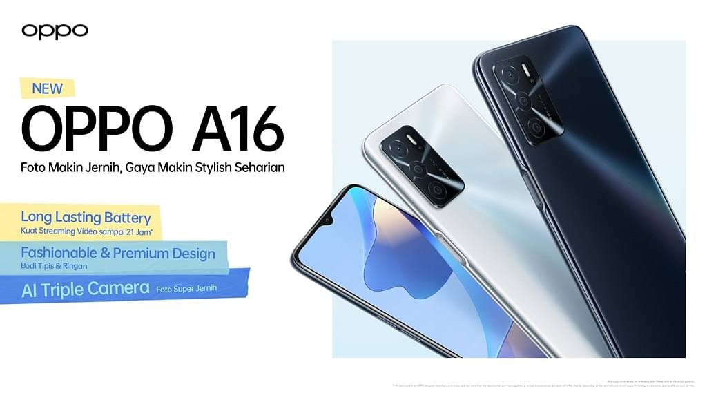 Oppo A16 Resmi Meluncur di Indonesia, Ini Spesifikasi dan Harganya