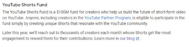 What is the Youtube Shorts Fund