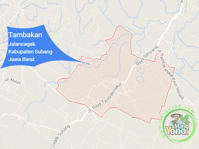 PETA : Desa Tambakan, Kecamatan Jalancagak