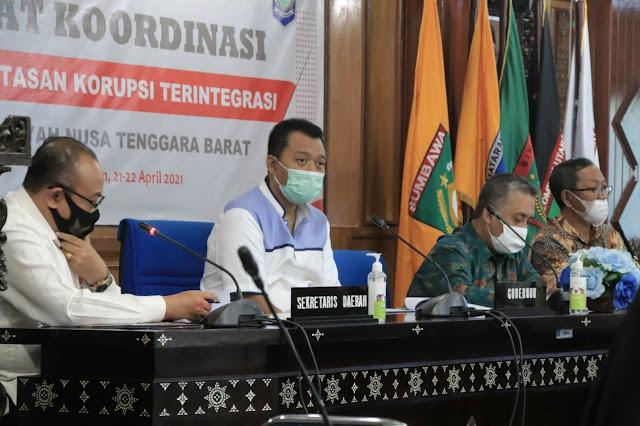 Cegah korupsi, Gubernur minta OPD Pemprov NTB maksimalkan koordinasi dengan KPK