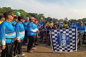 Satgas Nusantara Polres Serang Kota Gelar Gowes Nusantara