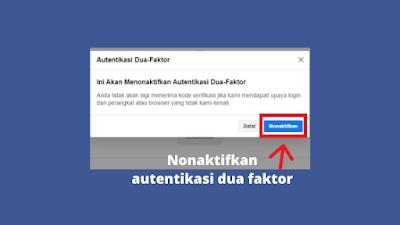 Cara Menonaktifkan Autentikasi Dua Faktor Di Facebook Terbaru