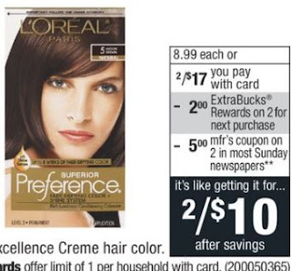 L'Oreal Preference or Excellence Creme Hair Color