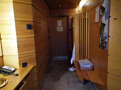 Men's sauna, changing room