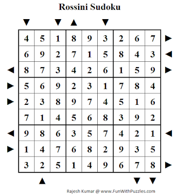 Rossini Sudoku (Daily Sudoku League #195) Puzzle Solution