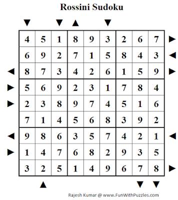 Rossini Sudoku (Daily Sudoku League #195) Puzzle Solution