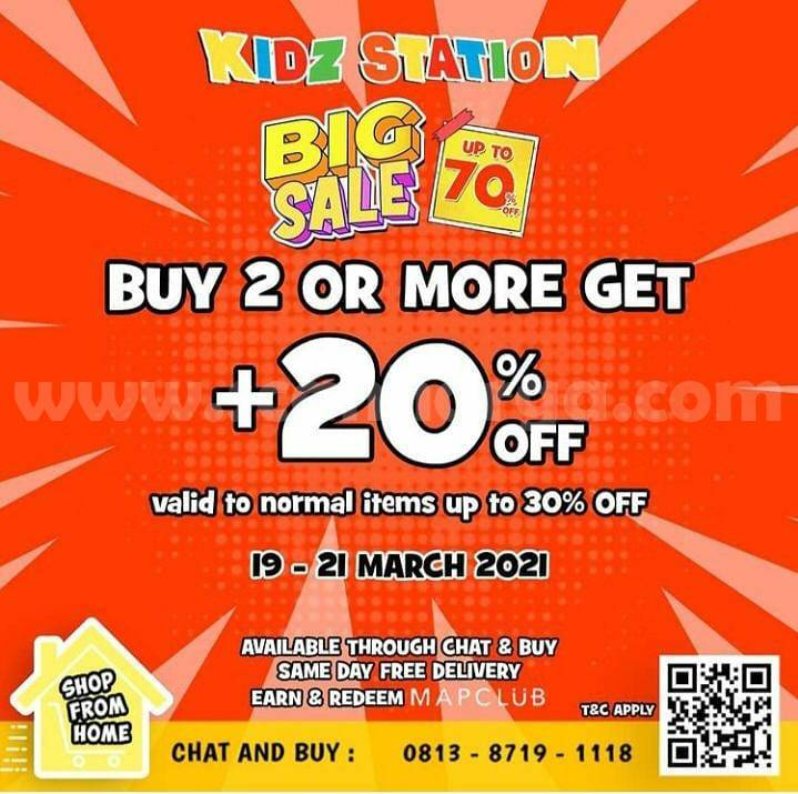 Promo KIDZ STATION BIG SALE ! DISCOUNT up to 20% + 30%