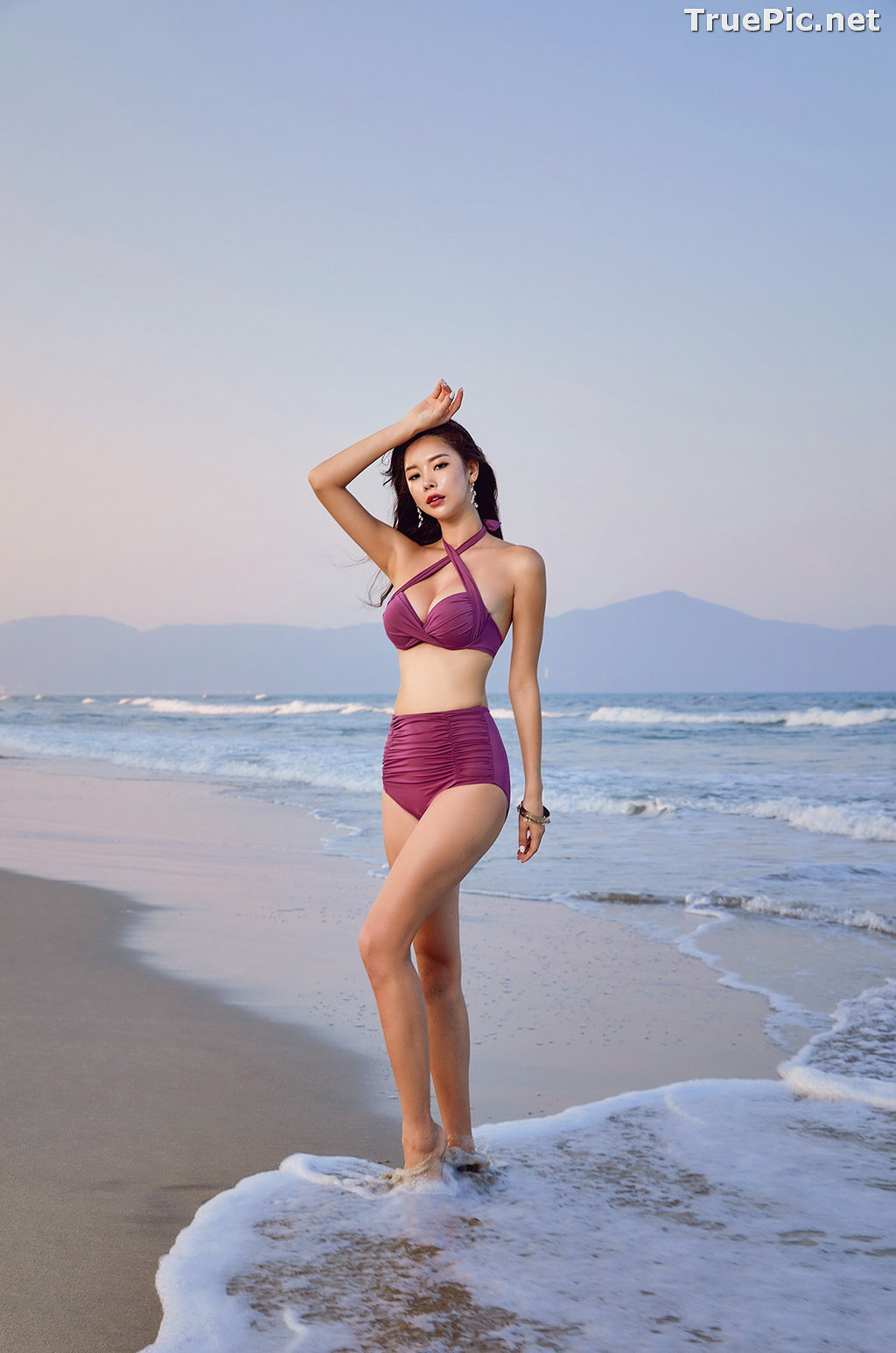 Image Park Da Hyun - Korean Fashion Model - RoseMellow Purple Bikini - TruePic.net - Picture-8