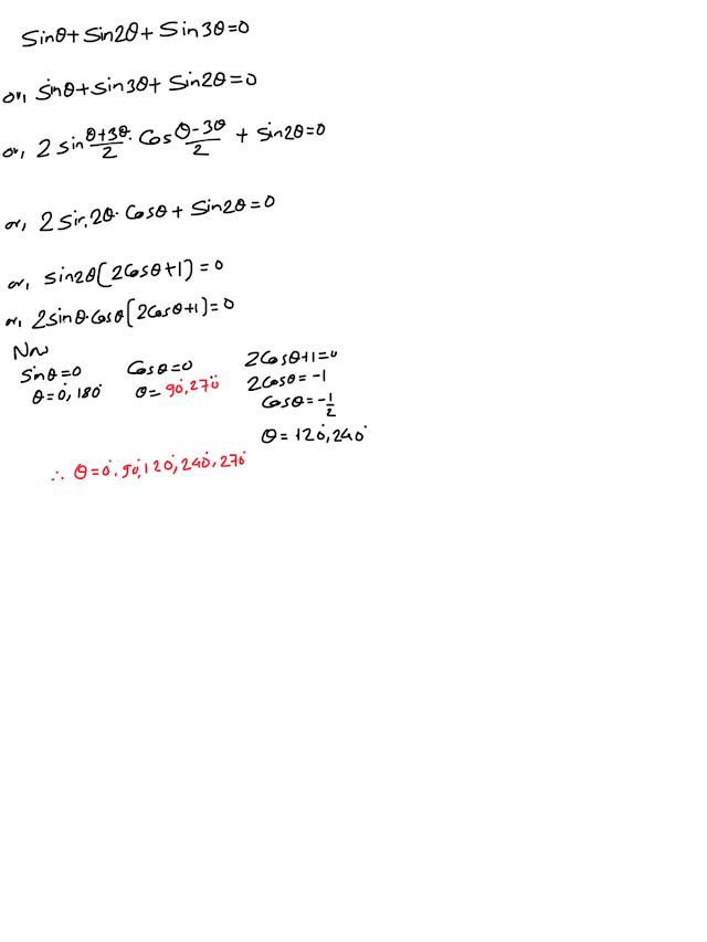 Class ten, optional mathematics, trigonometric equations
