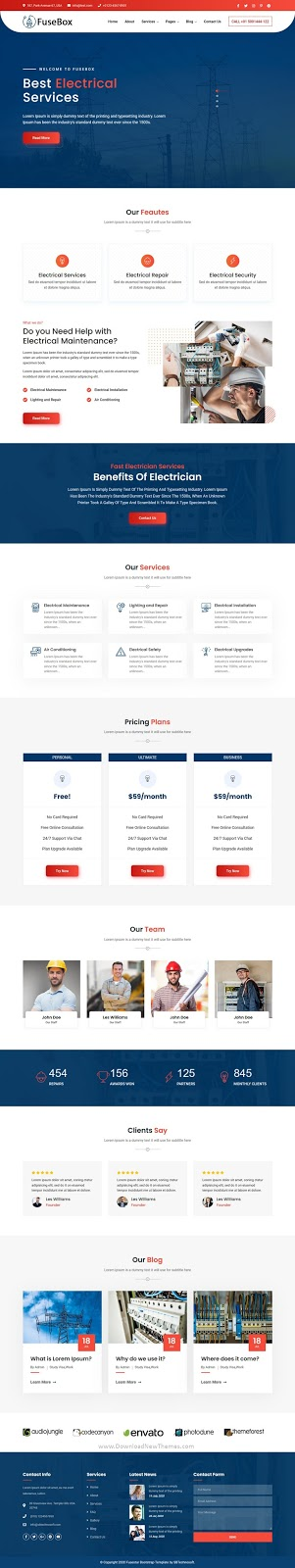 Responsive Electrical Company Template