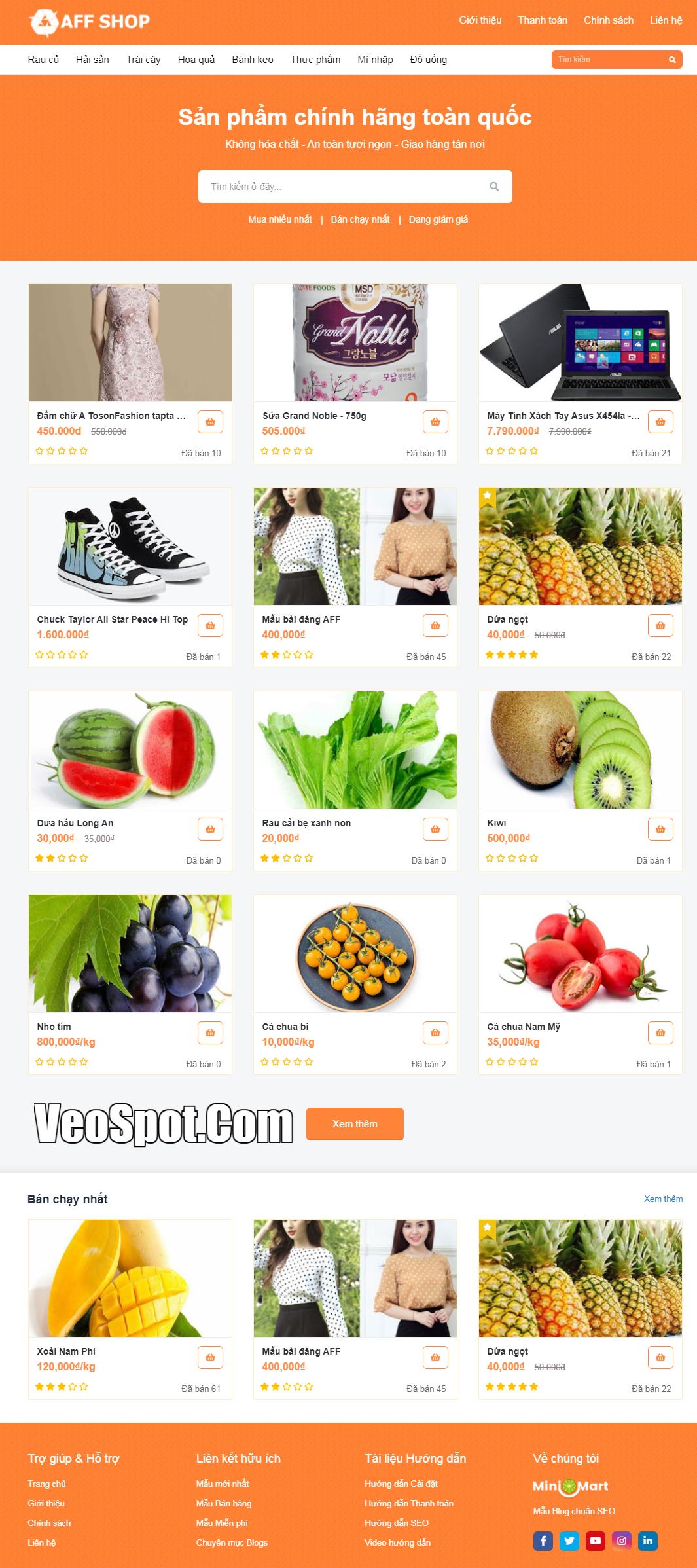 Template blogspot AF SHOP bán hàng tiếp thị liên kết