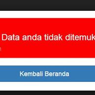 Solusi Data Tidak Ditemukan Saat Login Info GTK