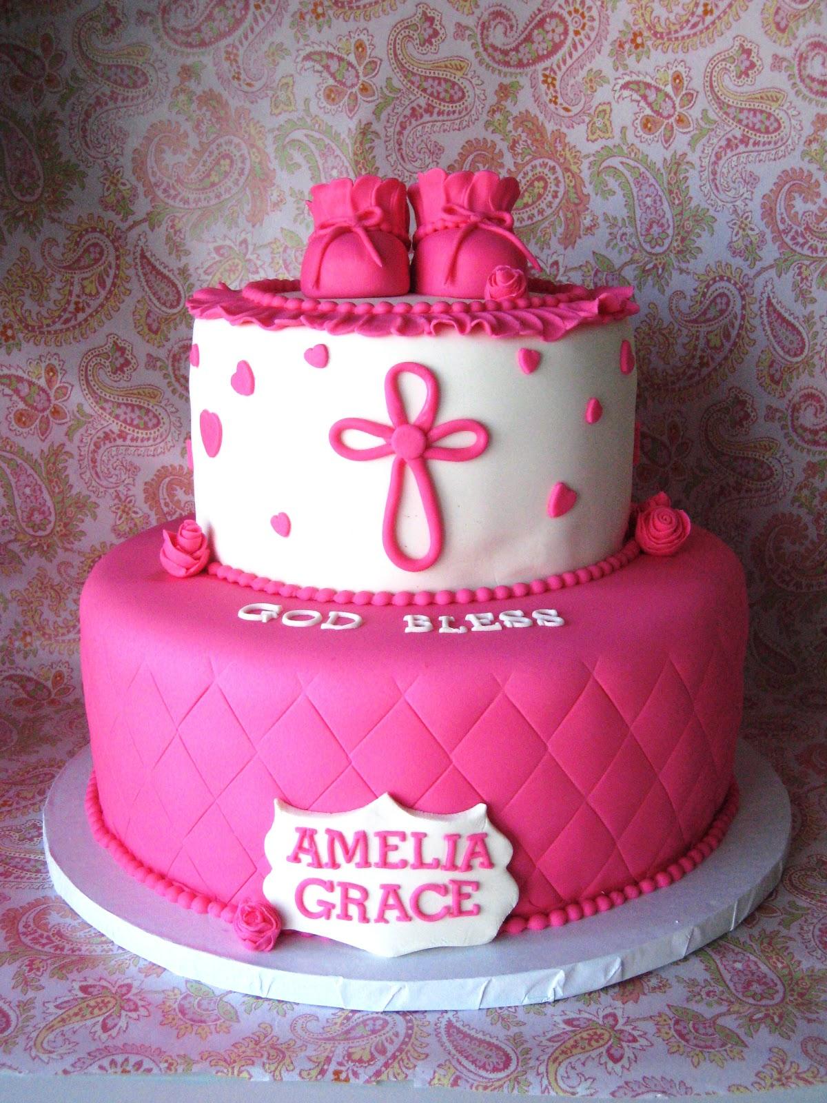 Heavenly Bites Cakes Pink Amp White Baby Booty Christening Cake