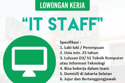 Info Lowongan Kerja IT Rumah Sakit Aulia Jakarta