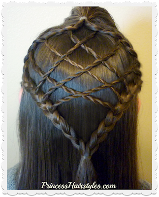 Braided dream catcher hairstyle tutorial.