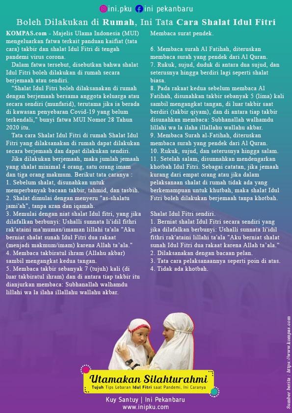 Utamakan Silahturahmi : Tujuh Tips Lebaran Idul Fitri saat Pandemi, Ini Caranya