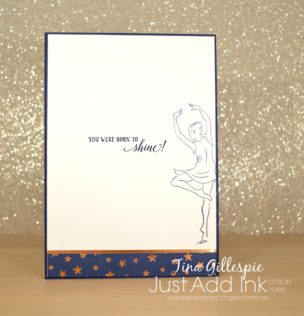 scissorspapercard, Stampin' Up!, Just Add Ink, Born To Shine, Brightly Gleaming SDSP, Stamparatus, Mirror Stamping, Watercolour Pencils
