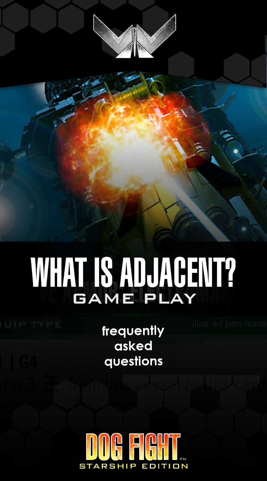 Dog Fight: Starship Edition FAQ what is adjacent