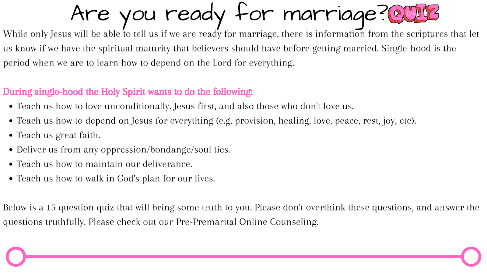 Online Quiz: Do you think you're ready for marriage?