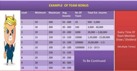 Team Bonus Income(Kitty Cash)
