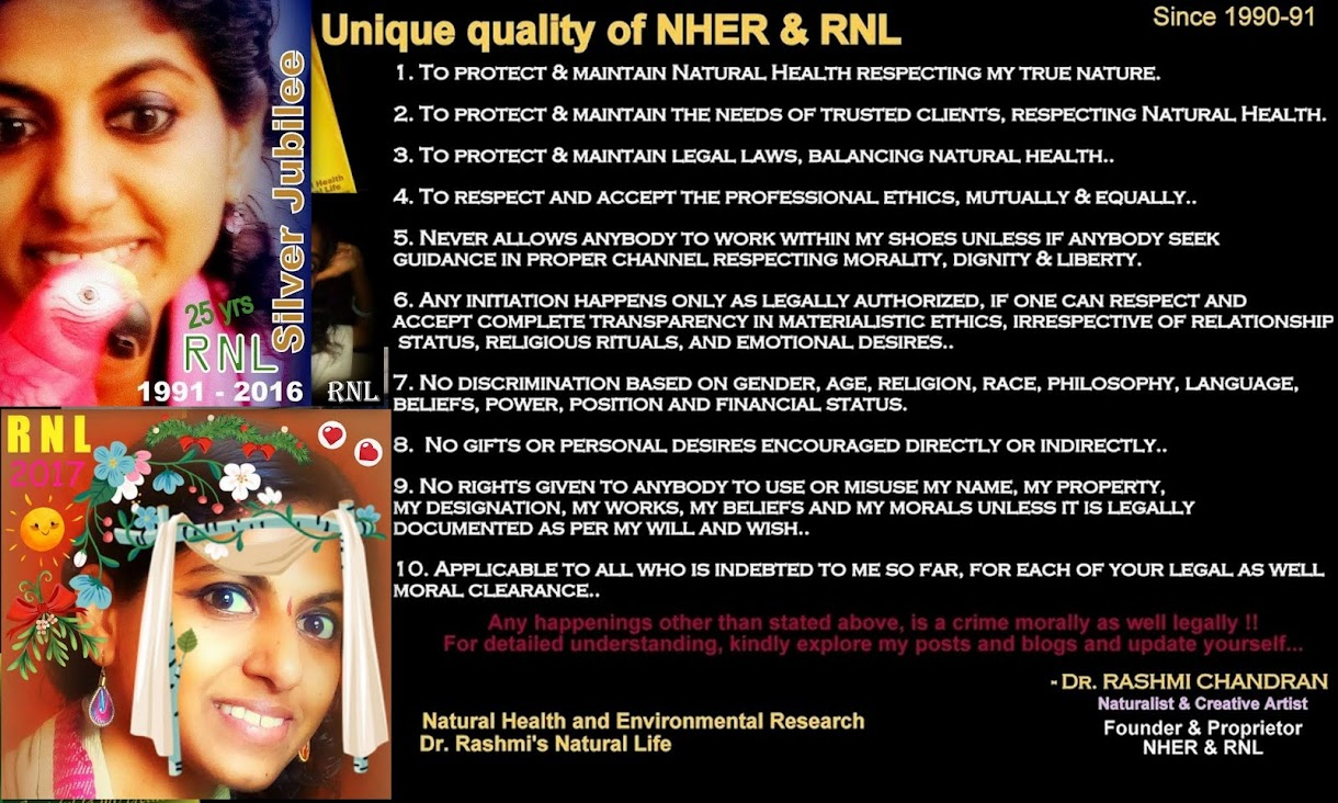 Dr. Rashmi's NATURAL Life (RNL) Since 1990-91