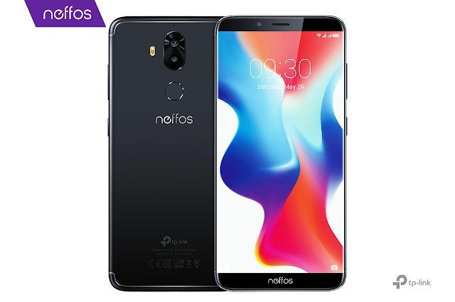 Neffos X9 is equipped with 13- and 5-megapixel rear cameras, and 8-megapixel camera on the front.