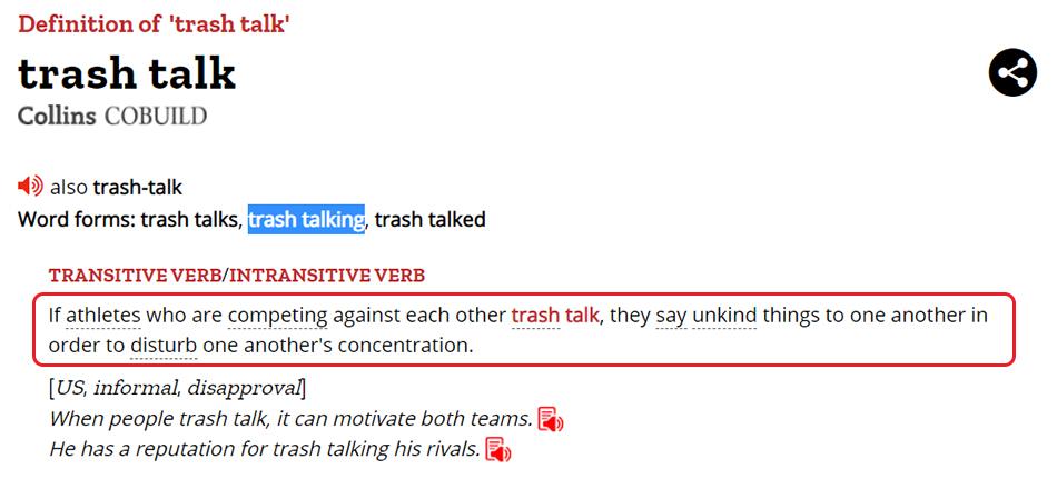 Penjelasan Trash Talking