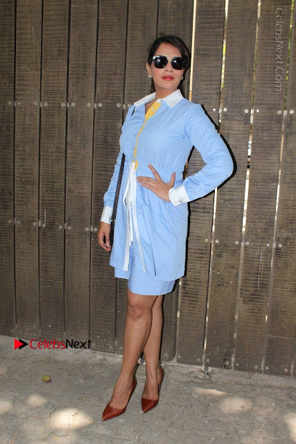 Richa Chadda Latest Pos in Blue Short Dress at the Screening Of Short Film Khoon Aali Chithi  0002.jpg