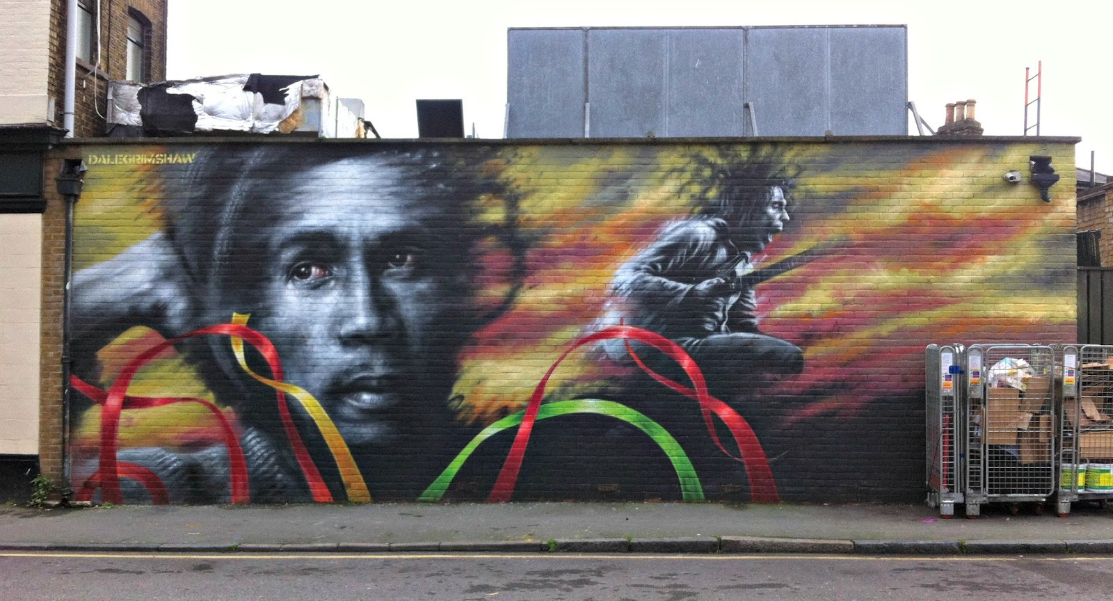Transpontine prince ali maxi marley murals for Bob marley mural