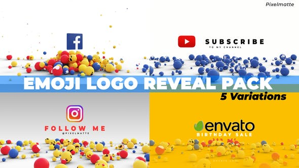 Emoji Logo Reveal Pack[Videohive][After Effects][28202745]