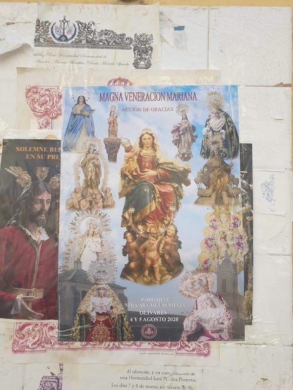 Magna de veneración en Olivares este Agosto