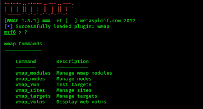 metasploit wmap plugin