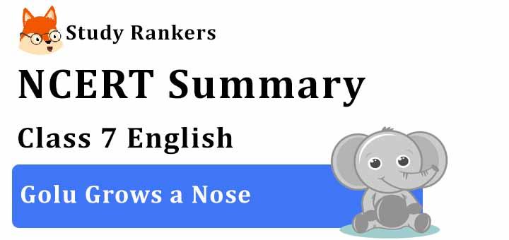 Chapter 5 Golu Grows a Nose Class 7 English Summary